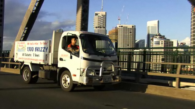 Rubbish removal truck in Brisbane